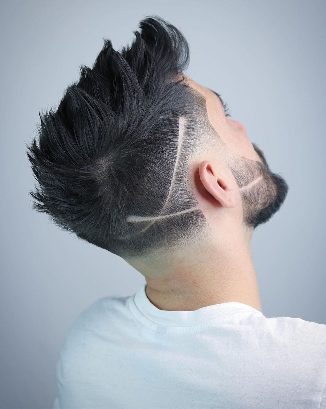 Spiky Shaved Line with Faded Neckline