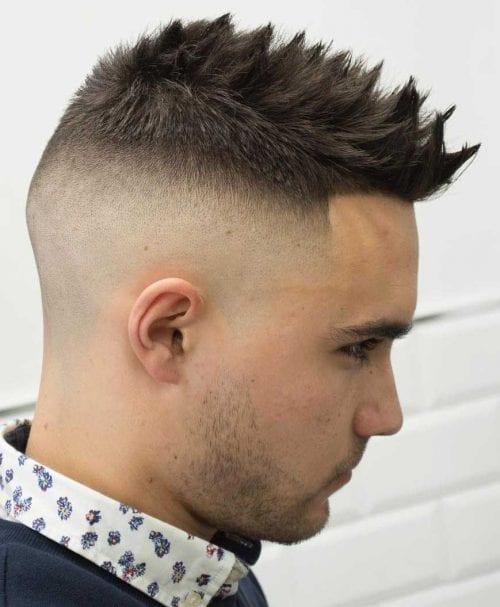 Spiky Short Fohawk With A High Skin Fade