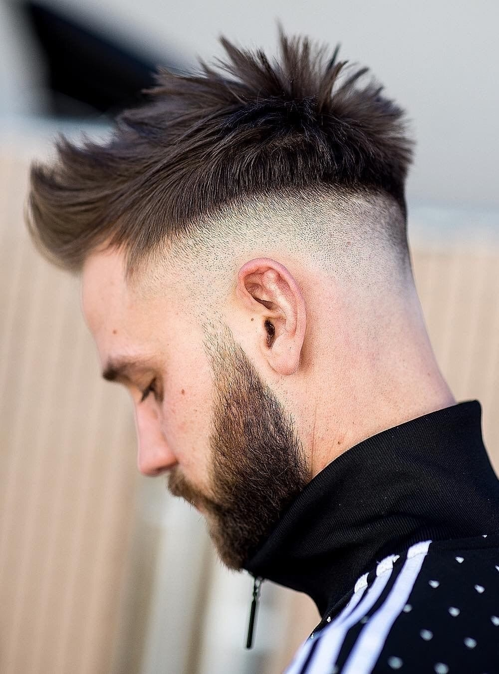 Spiky Textured Top with Undercut Fade