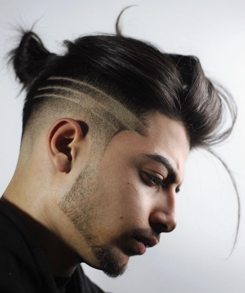 Strip Taper Faded Undercut Modern Bun