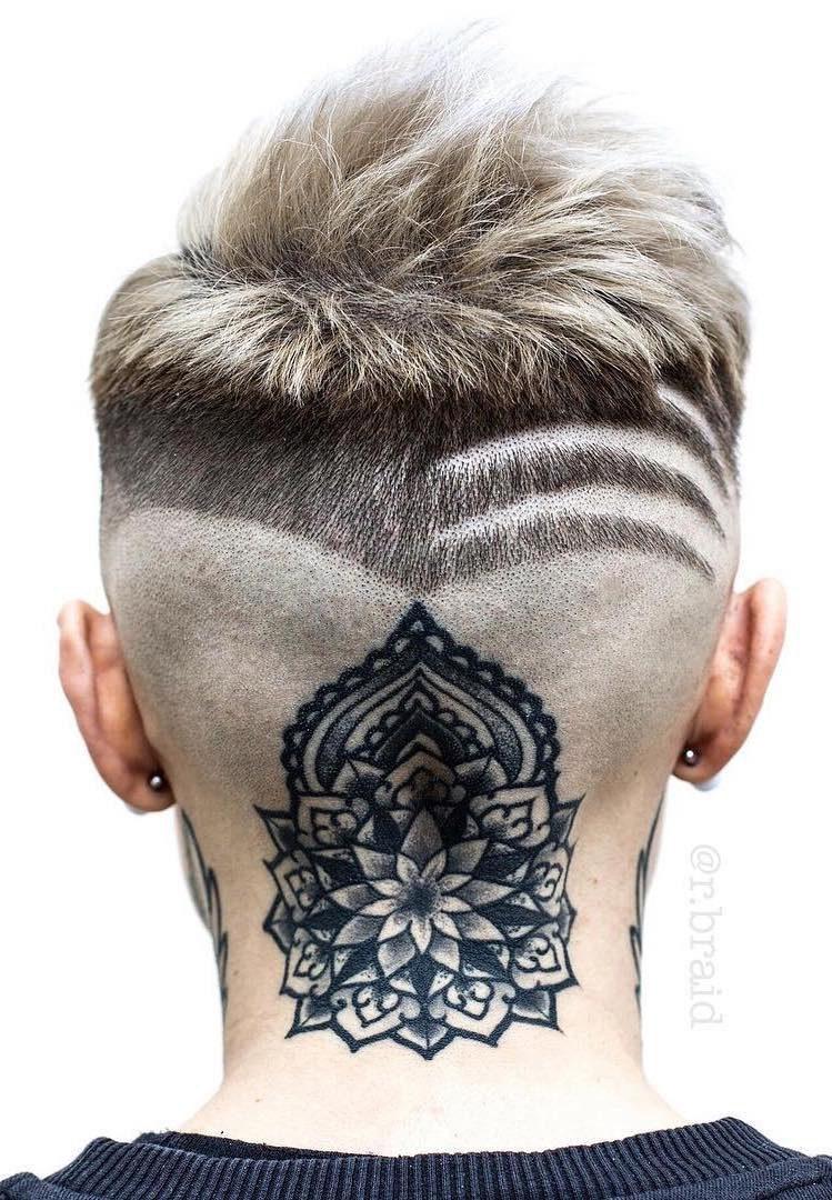 Striped Neckline with Tattoo