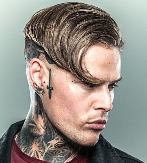 Styled Side Swept and Undercut