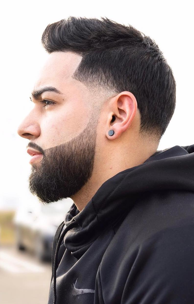 Subtle Temple to Beard Fade with Line Up