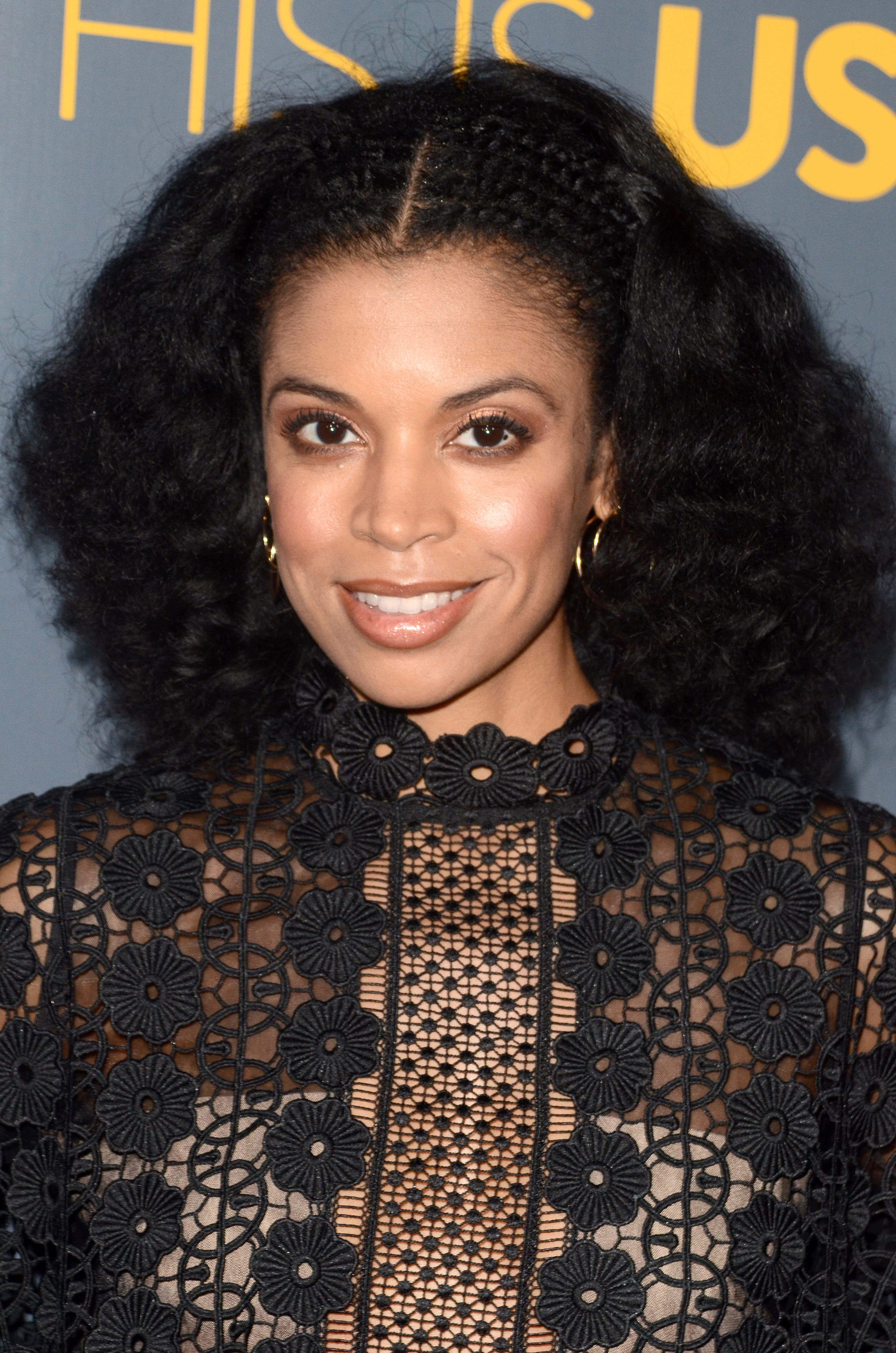Susan Kelechi Watson's Partial Cornrows with Curly Lob