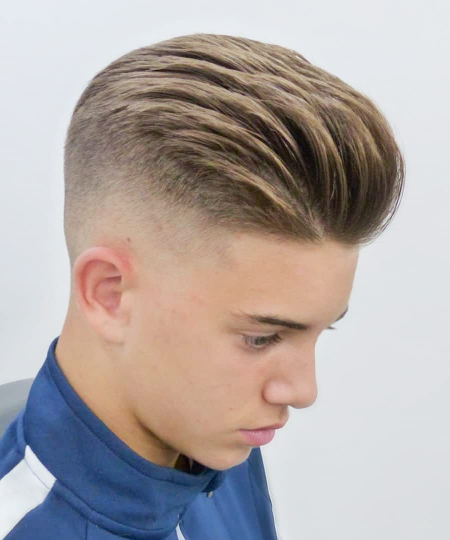 Taper Fade and Brush Back