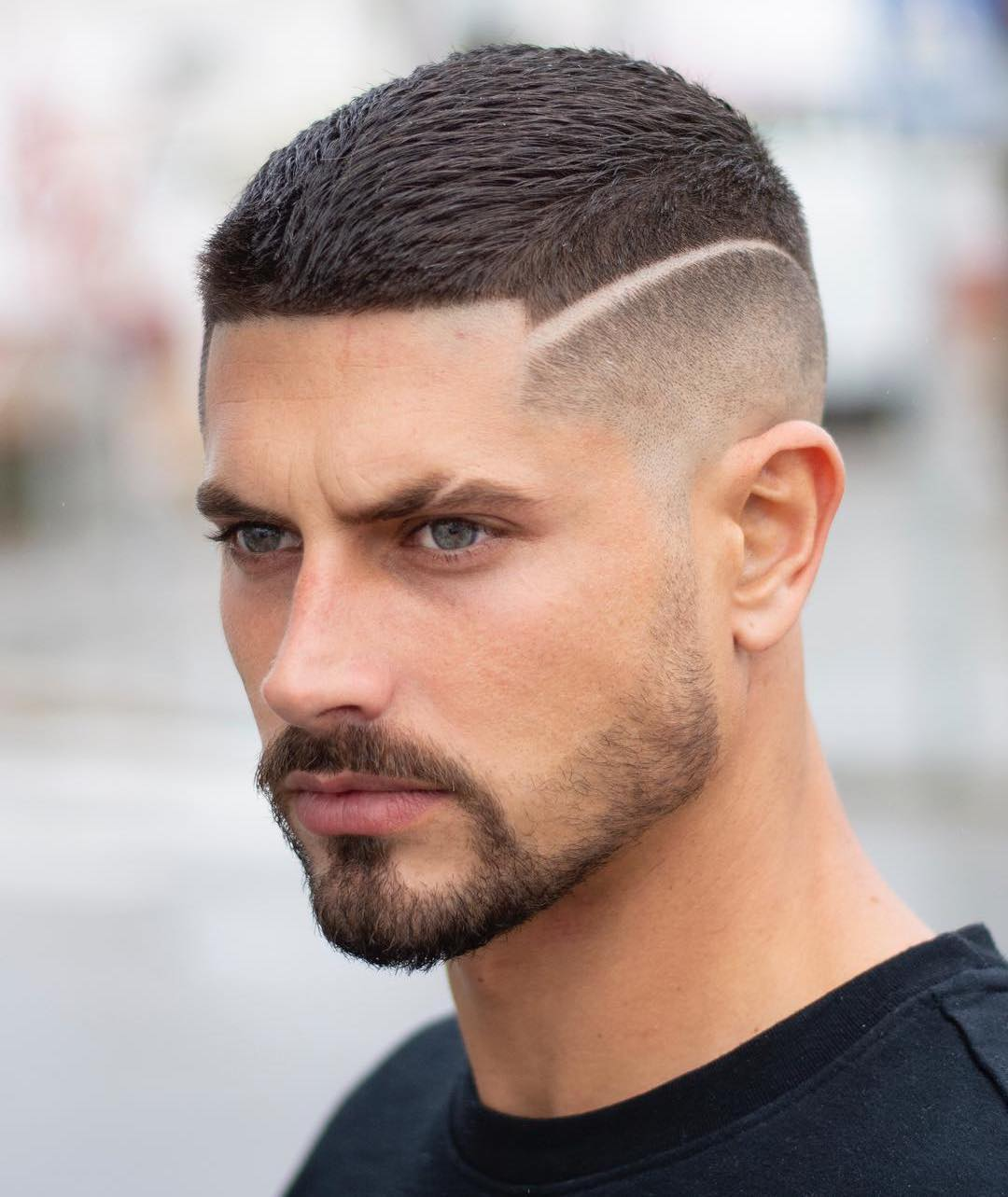 Taper Fade with Shaved Hairline