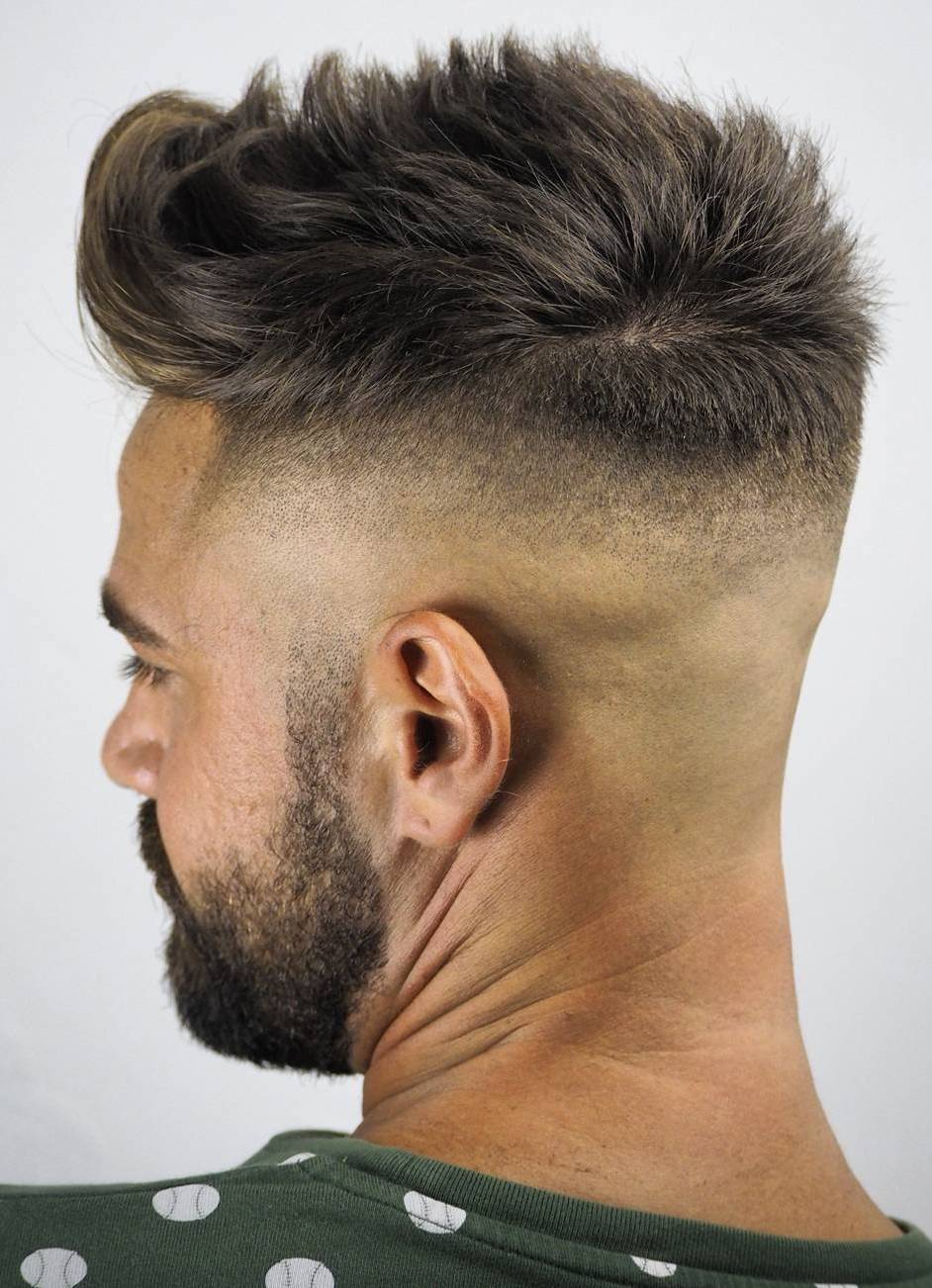 Taper Fade with Vanished Neckline