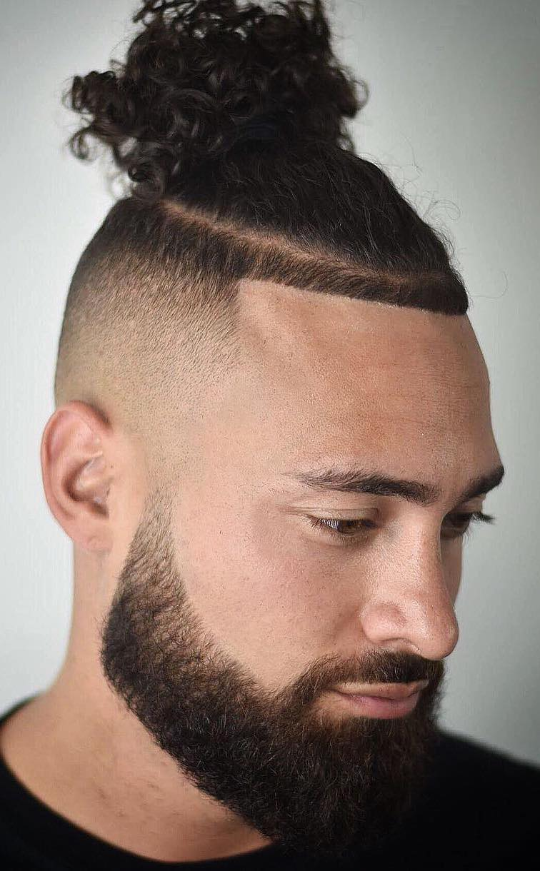 Taper Faded Top Knot