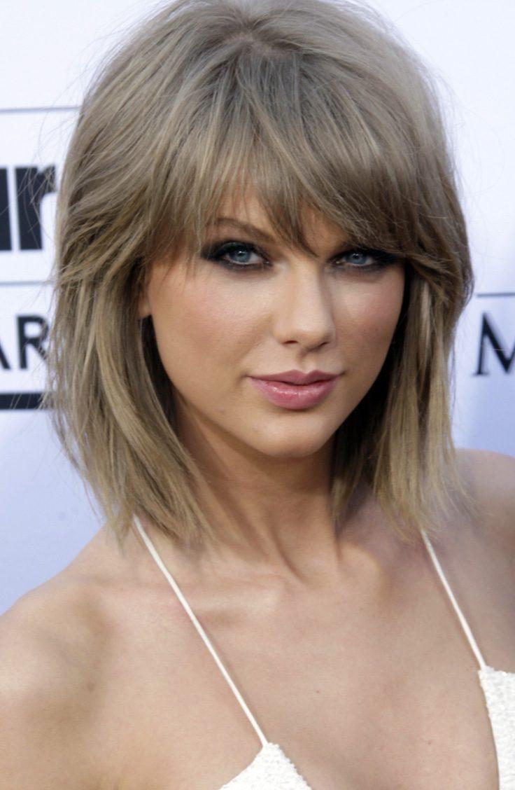 Taylor Swift's Layered Edgy Lob