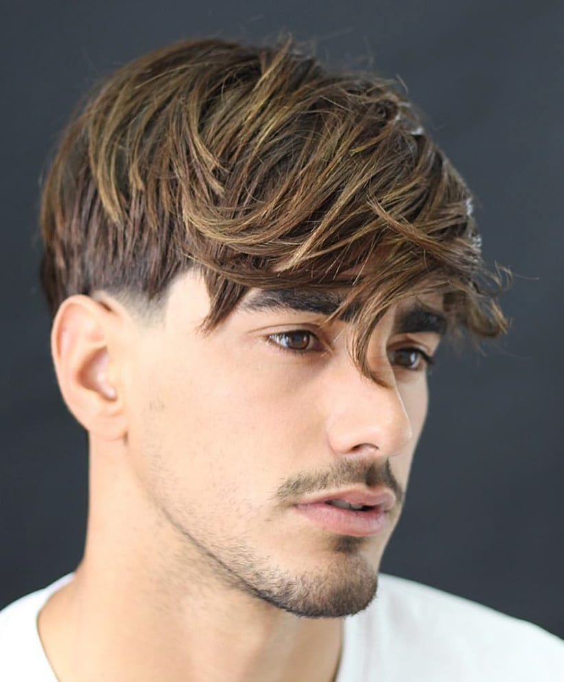 Temple Fade and Side-Swept Mop