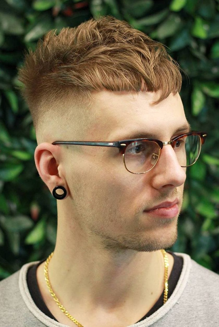 Textured Fringe with Skin Fade
