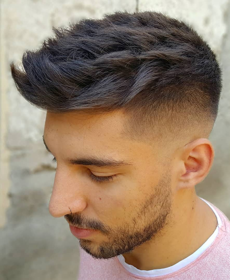 Textured Spikes with Taper fade