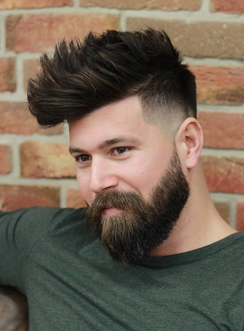 Textured Taper Fade with Beard