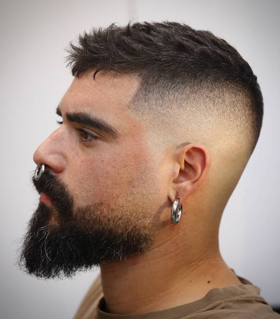 That Tough Beard with Subtle Skin Fade