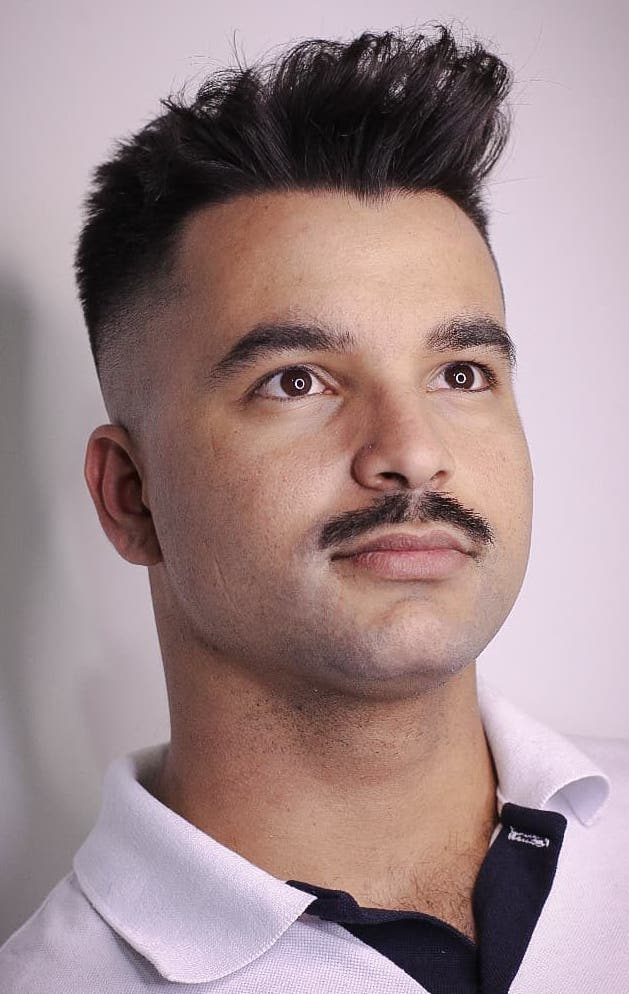 The Classic Moustache to Mid Fade Duo