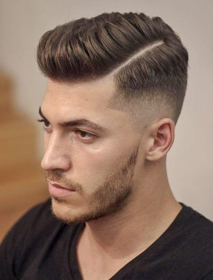 The Perfectly Twisted Top with Thin Hard Parted Fade