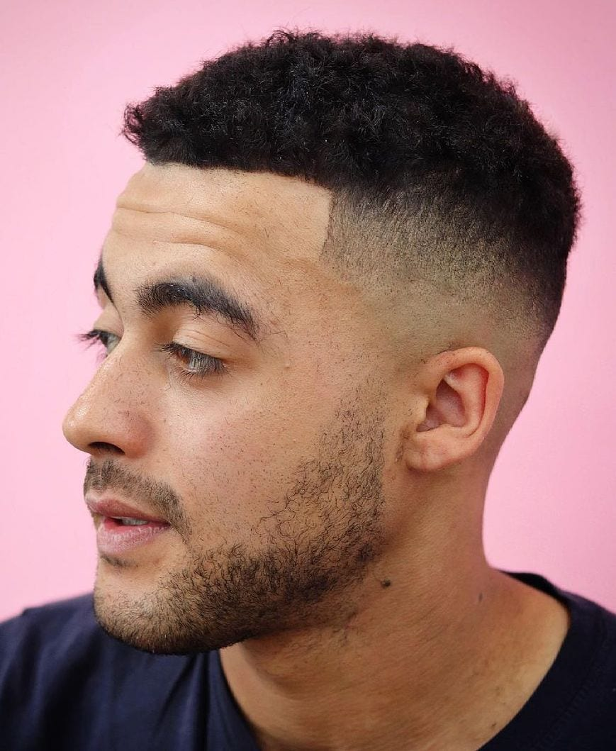 Thick Afro Matte Top with High Fade