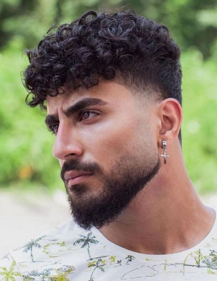 Thick Van Dyke Beard with Curled Top