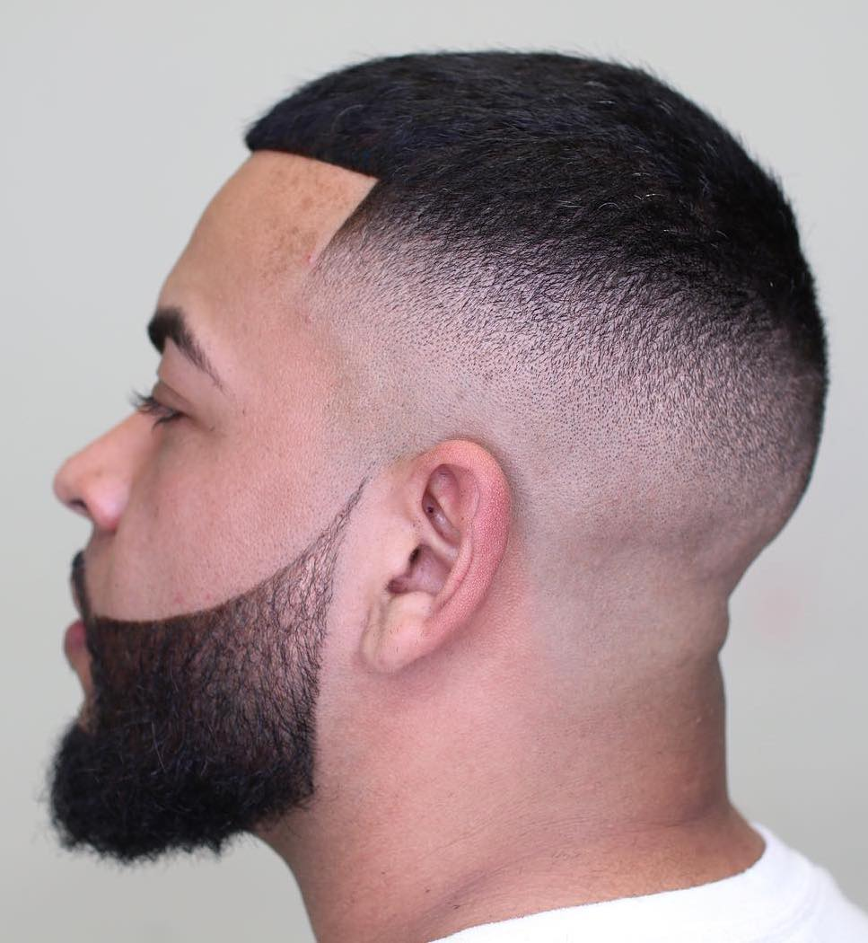 Thin Afro Hair with High Fade