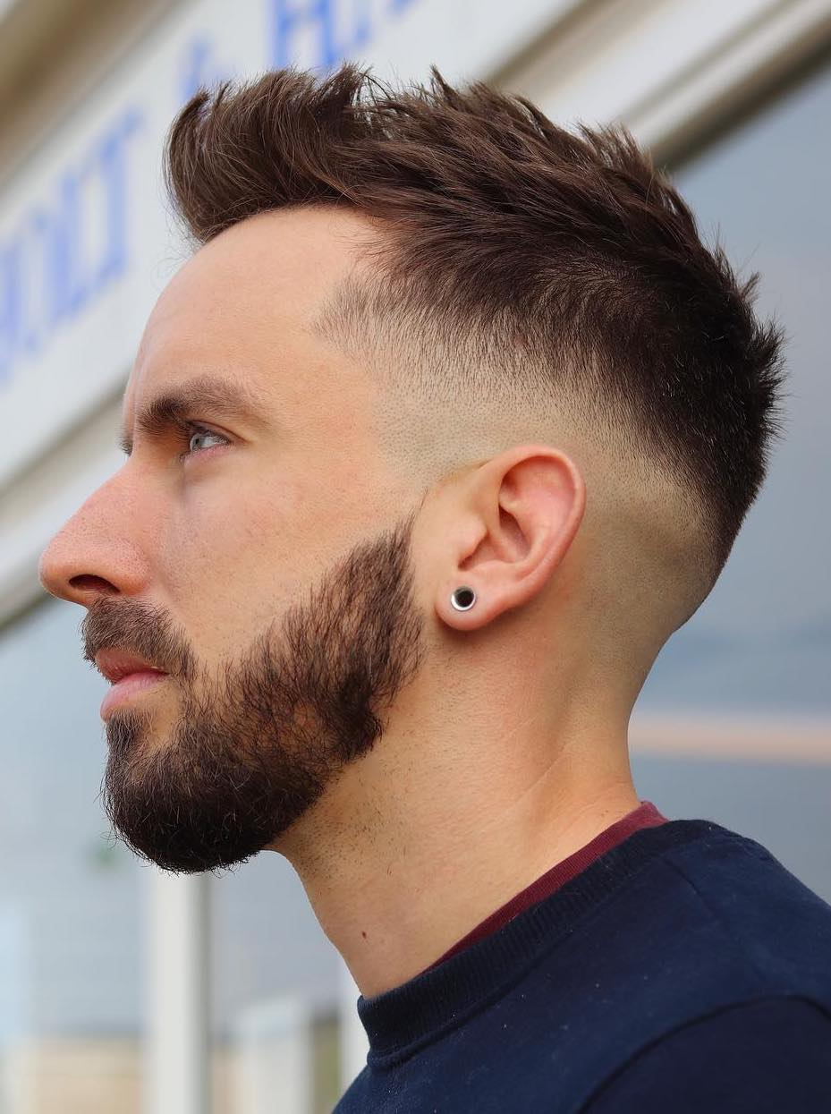 Thin Hair Brush Up and Mid Fade, Perfect Combination