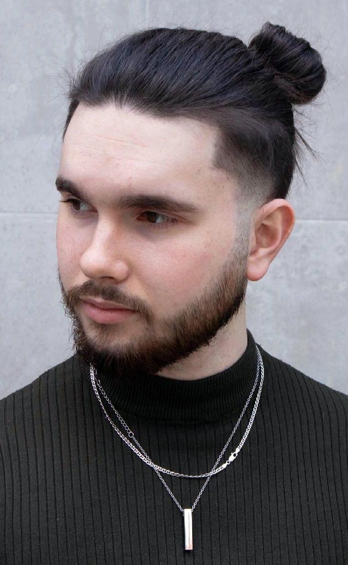 Thin Hair Tapered Man Bun