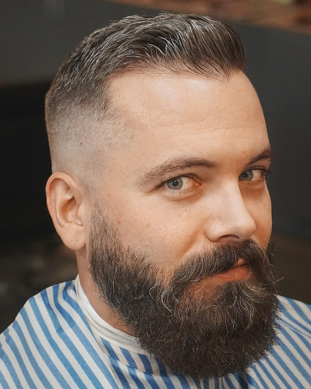 Thinning Hair with Skin Fade and Beard