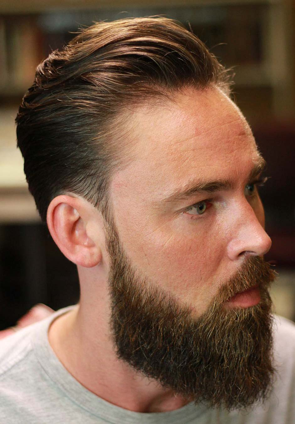 Classic Scissor Cut with Beard