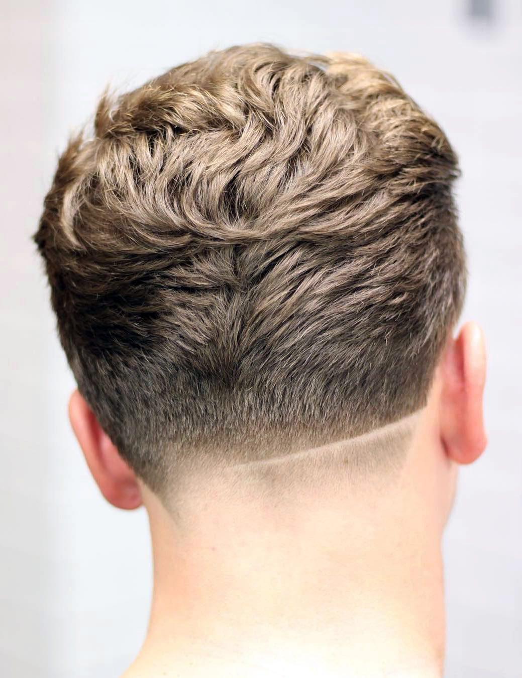 Tilted Neckline with Shaved Line
