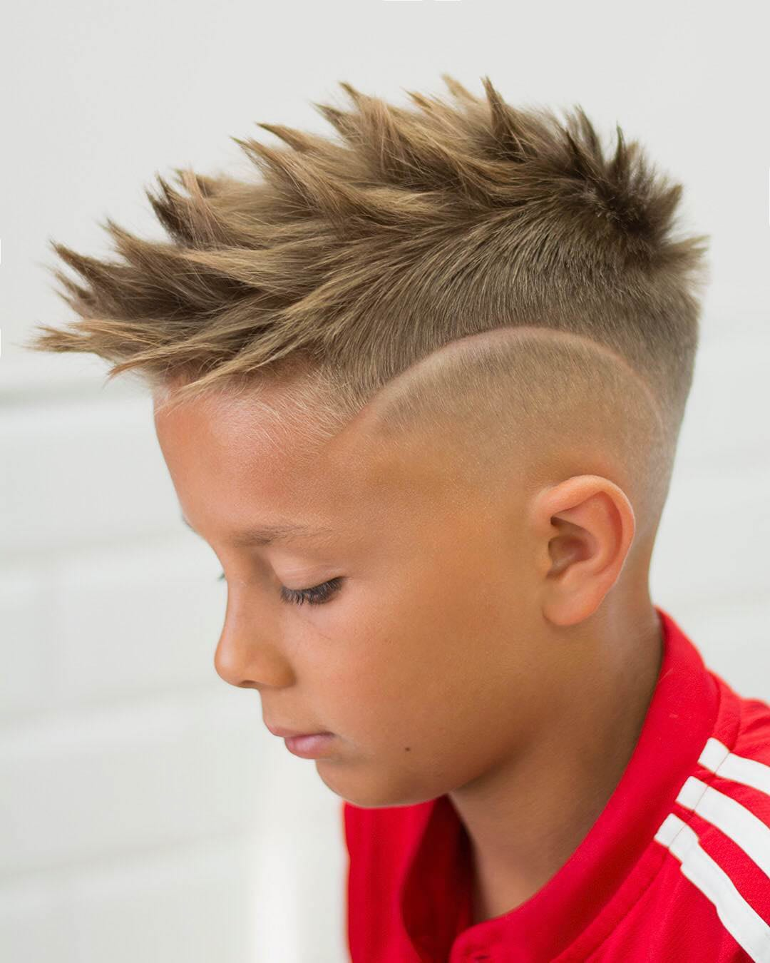 Boy with Spiky Fohawk and Disconnected Undercut