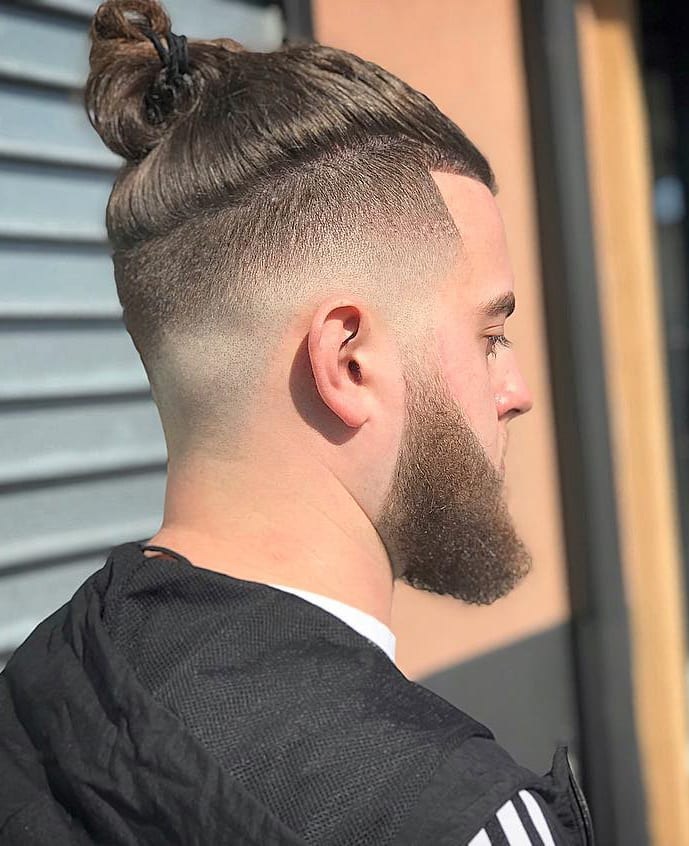Top Knot and Medium Fade