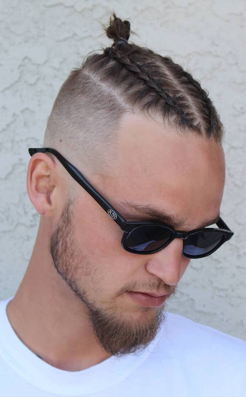 Top Knot with Taper Fade