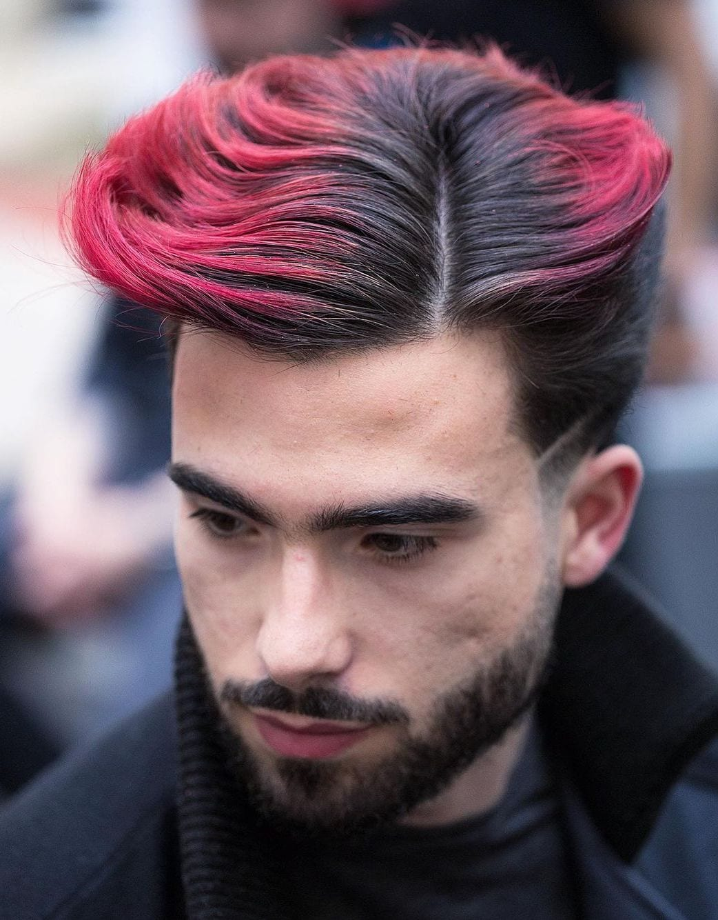 Unconventional Dyed Side Part
