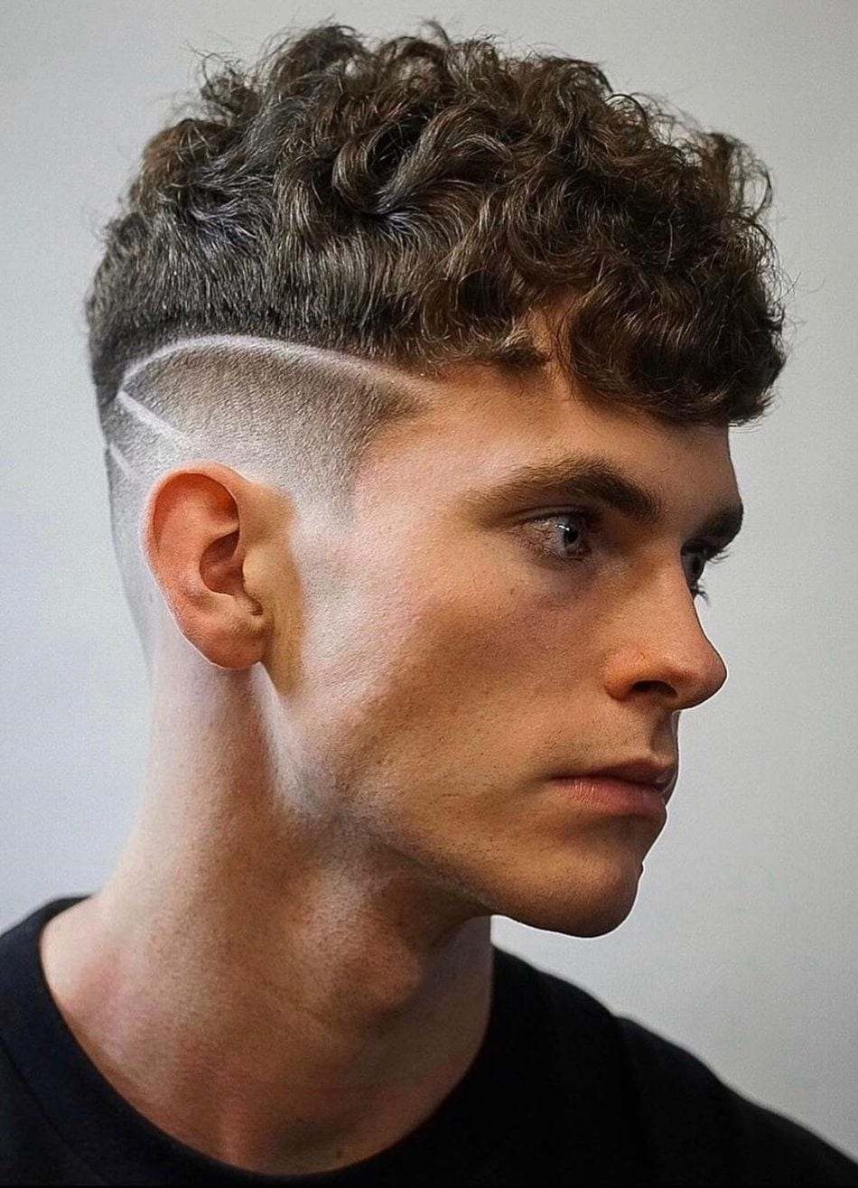 Undercut Curled Slit Shaved High Fade