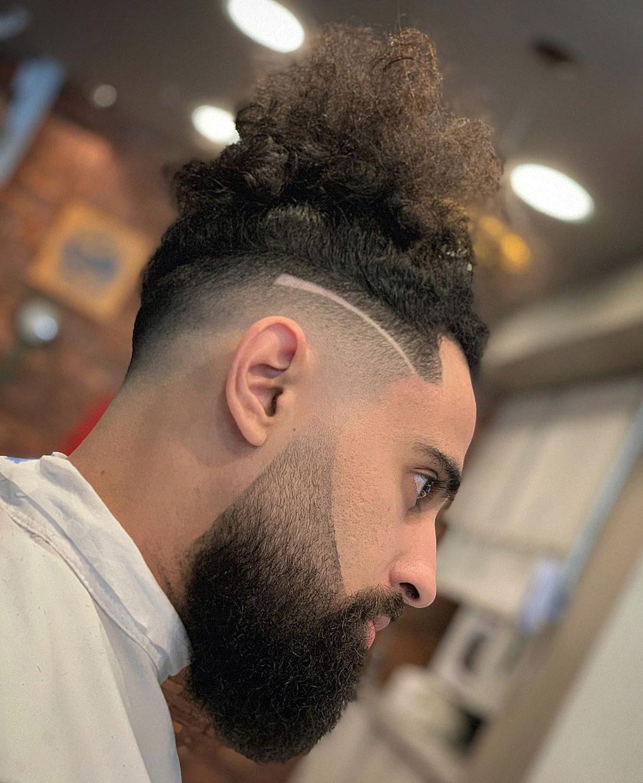 Undercut Curls with Sleek Fade