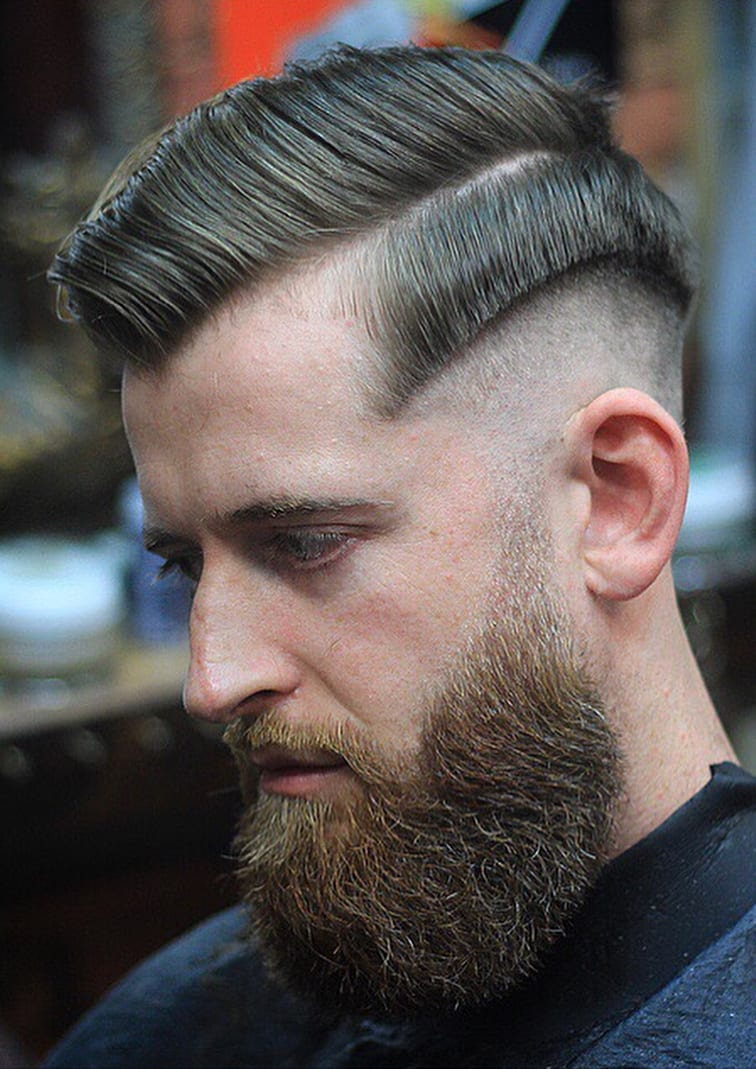 Undercut Fade with Side Comb