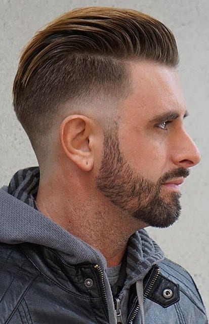 Undercut Slicked Back with Taper Fade