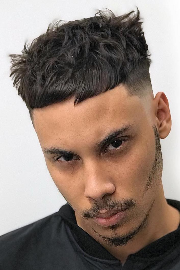 Undercut Taper Fade with Irregular Texture
