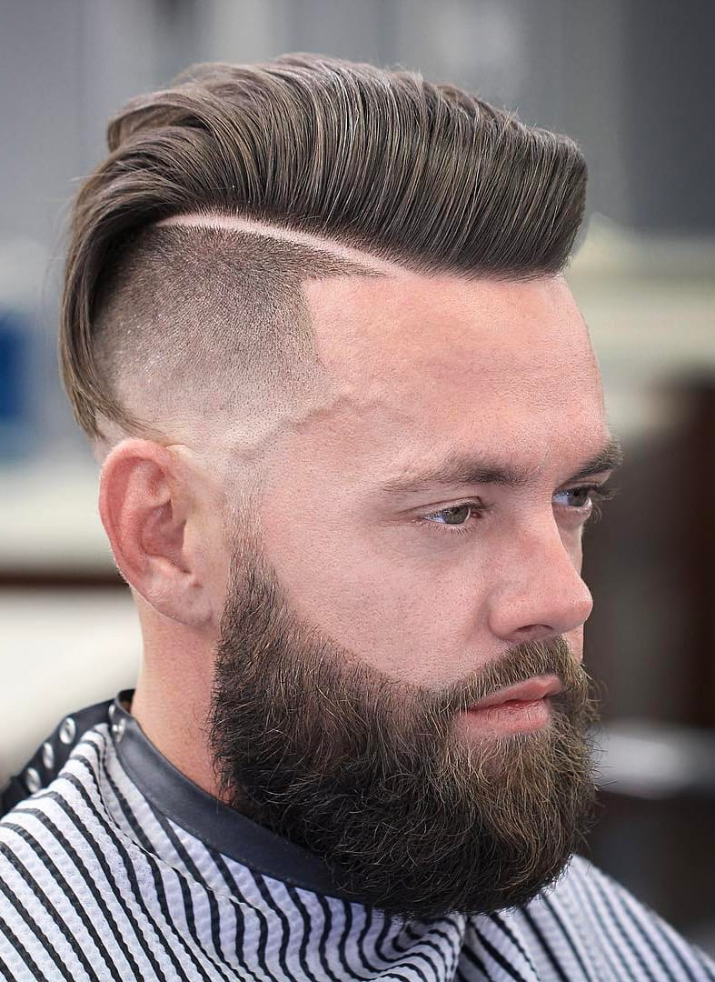 Undercut and Side-Swept Top
