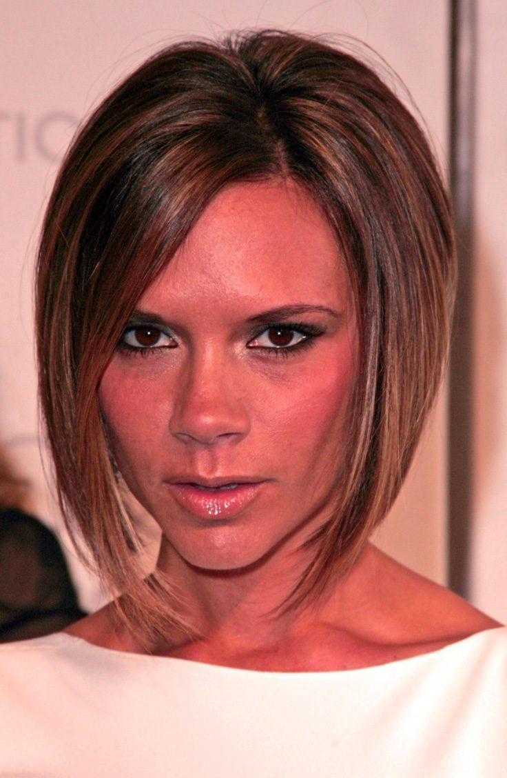 Victoria Beckham's Asymmetrical Bob Cut