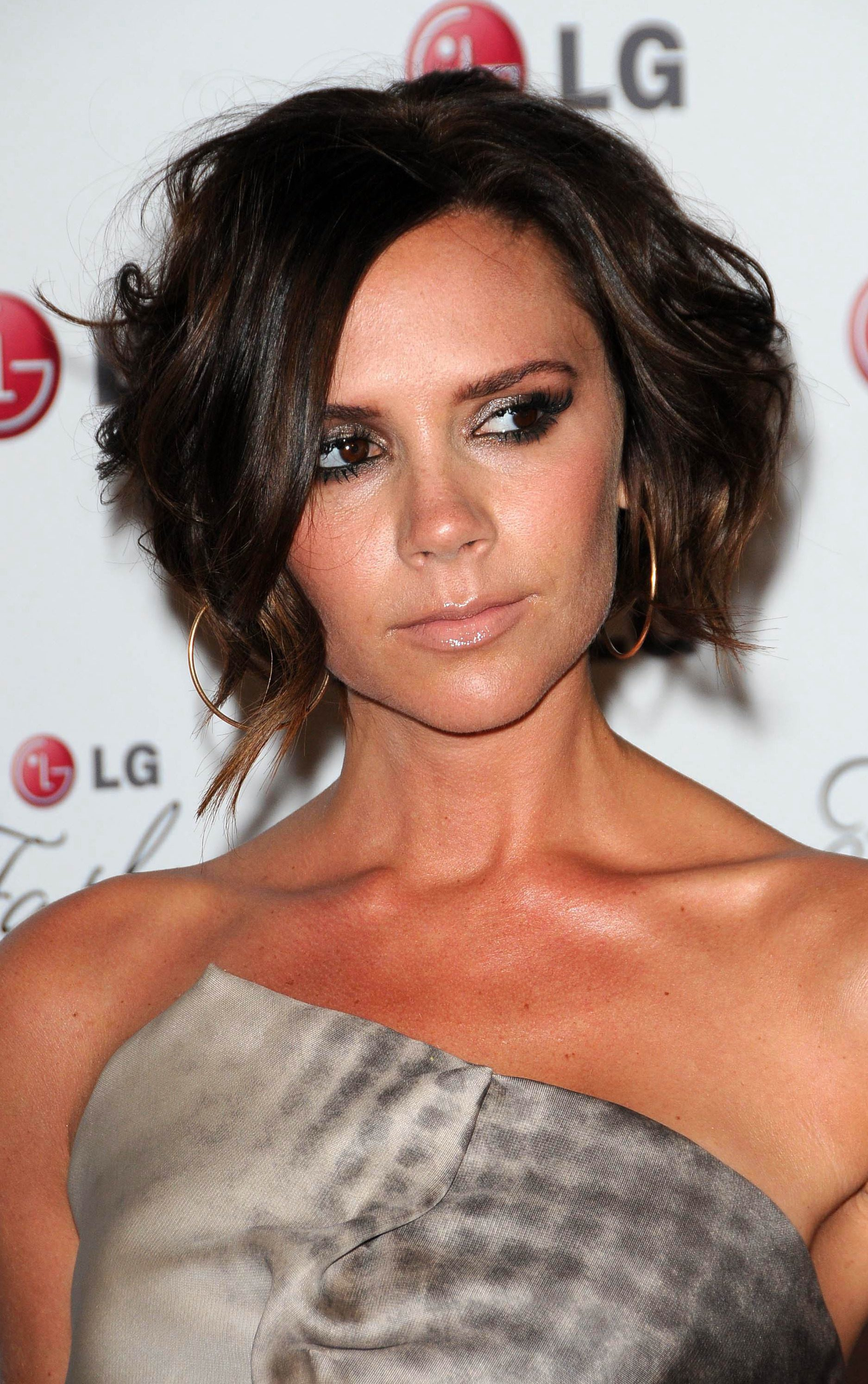 Victoria Beckham's Divided Messy Updo