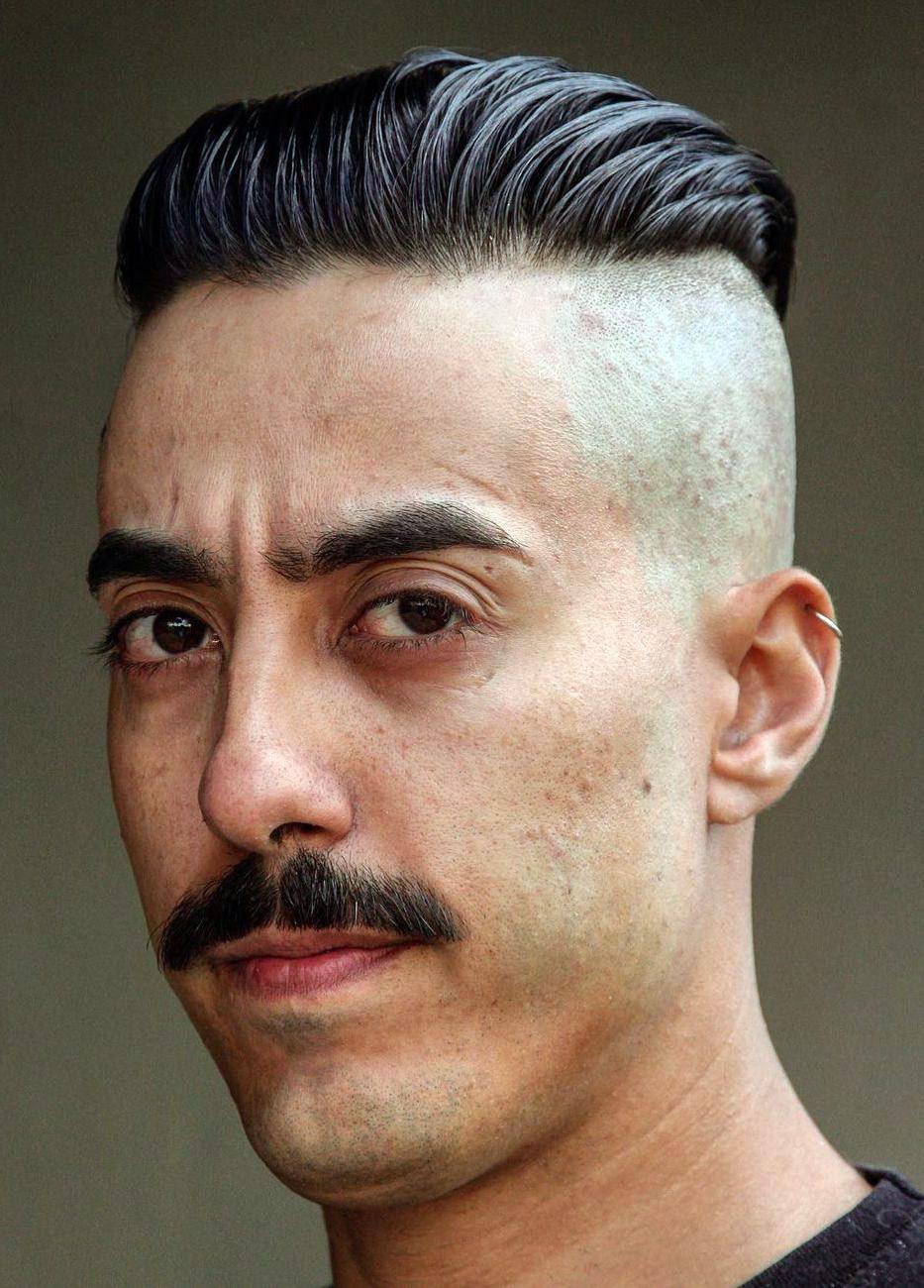 Vikingish Undercut with Thick Mustache