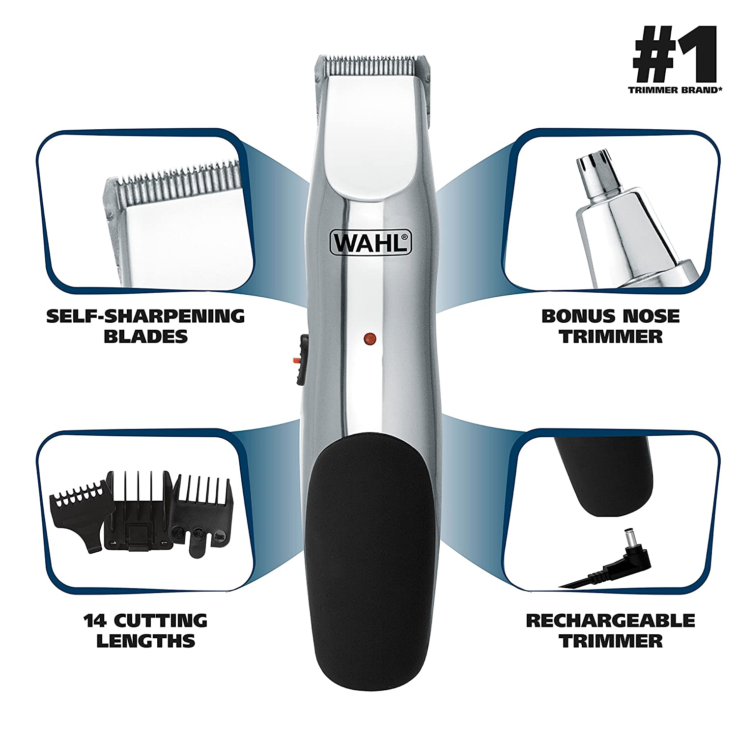 WAHL Groomsman Stubble Trimmer for Detailing & Grooming