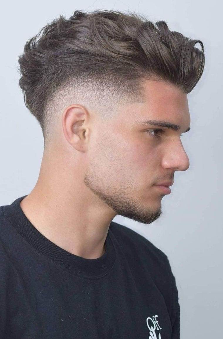 Waved Mohawk with Drop Fade