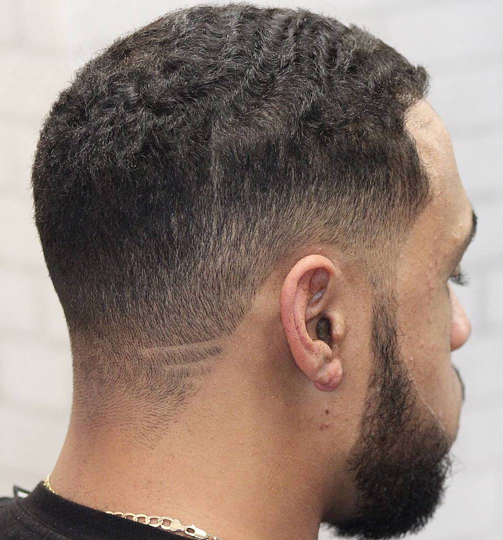 Wavy Short Hair with Winged Shave