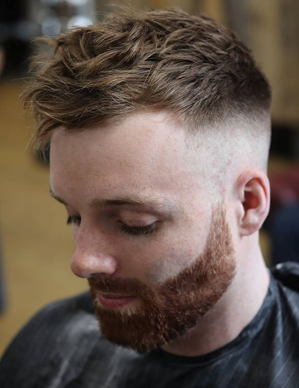 Wavy Top with Skin Fade