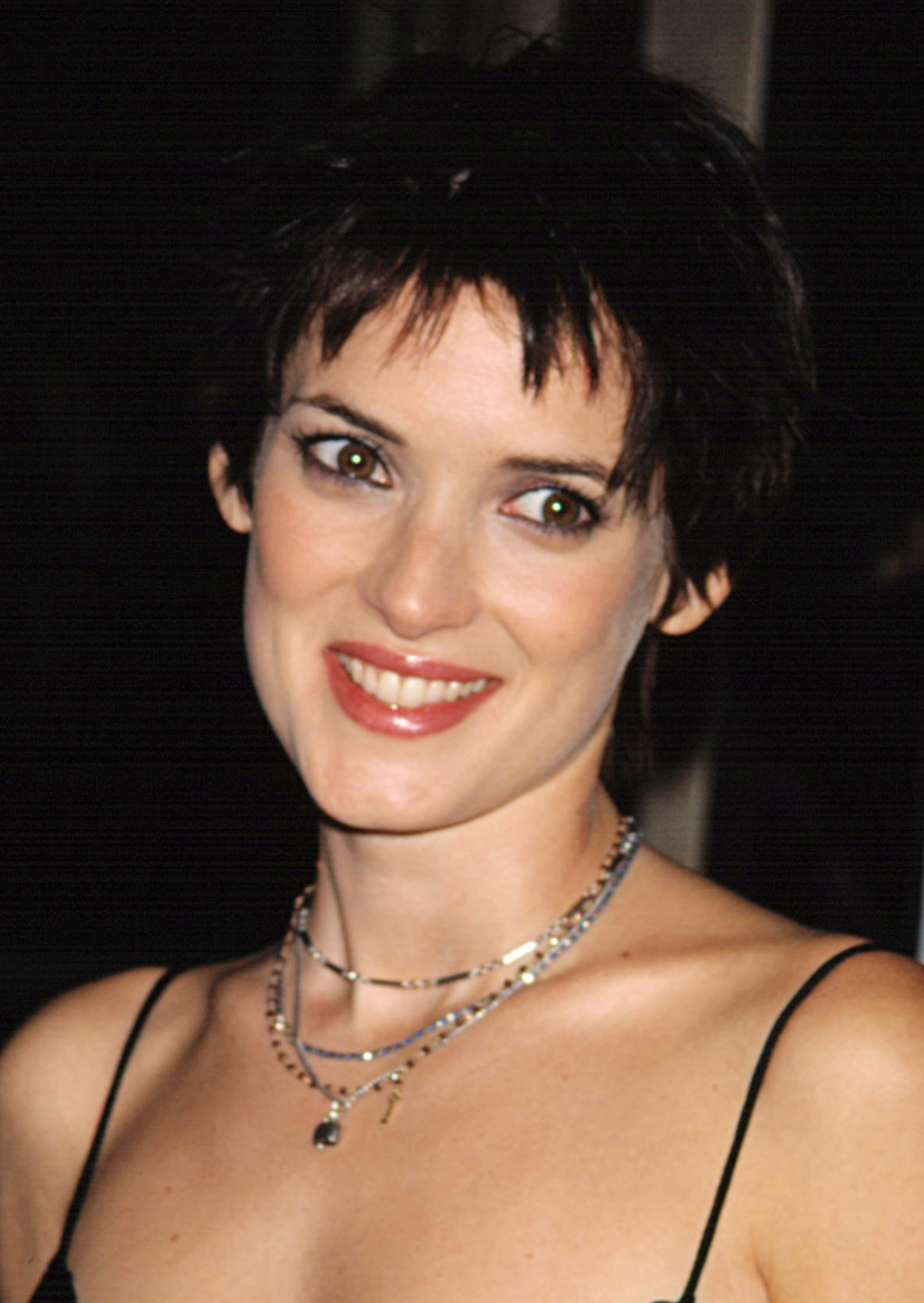 Winona Ryder With Short Pointed Bangs