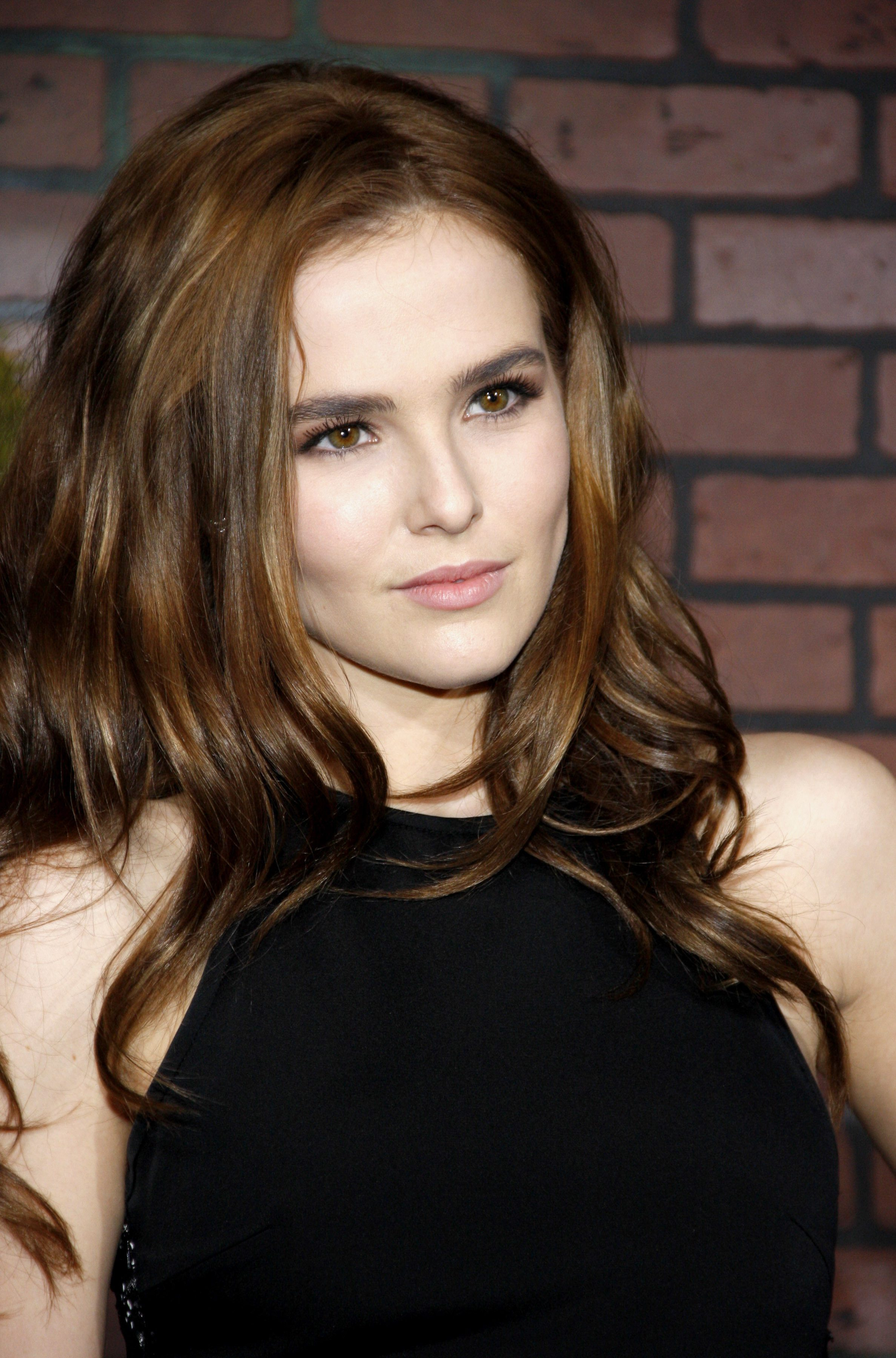 Zoey Deutch's Chocolate Brown Hair with Caramel Highlights