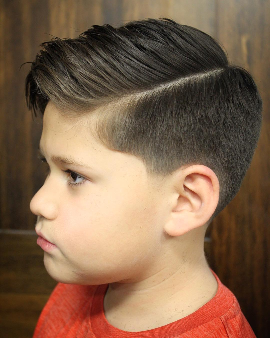 Combed Over Side Part for Kids