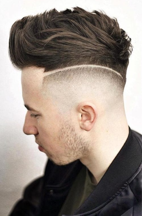 Faux Hawk With Disconnected High Skin Fade