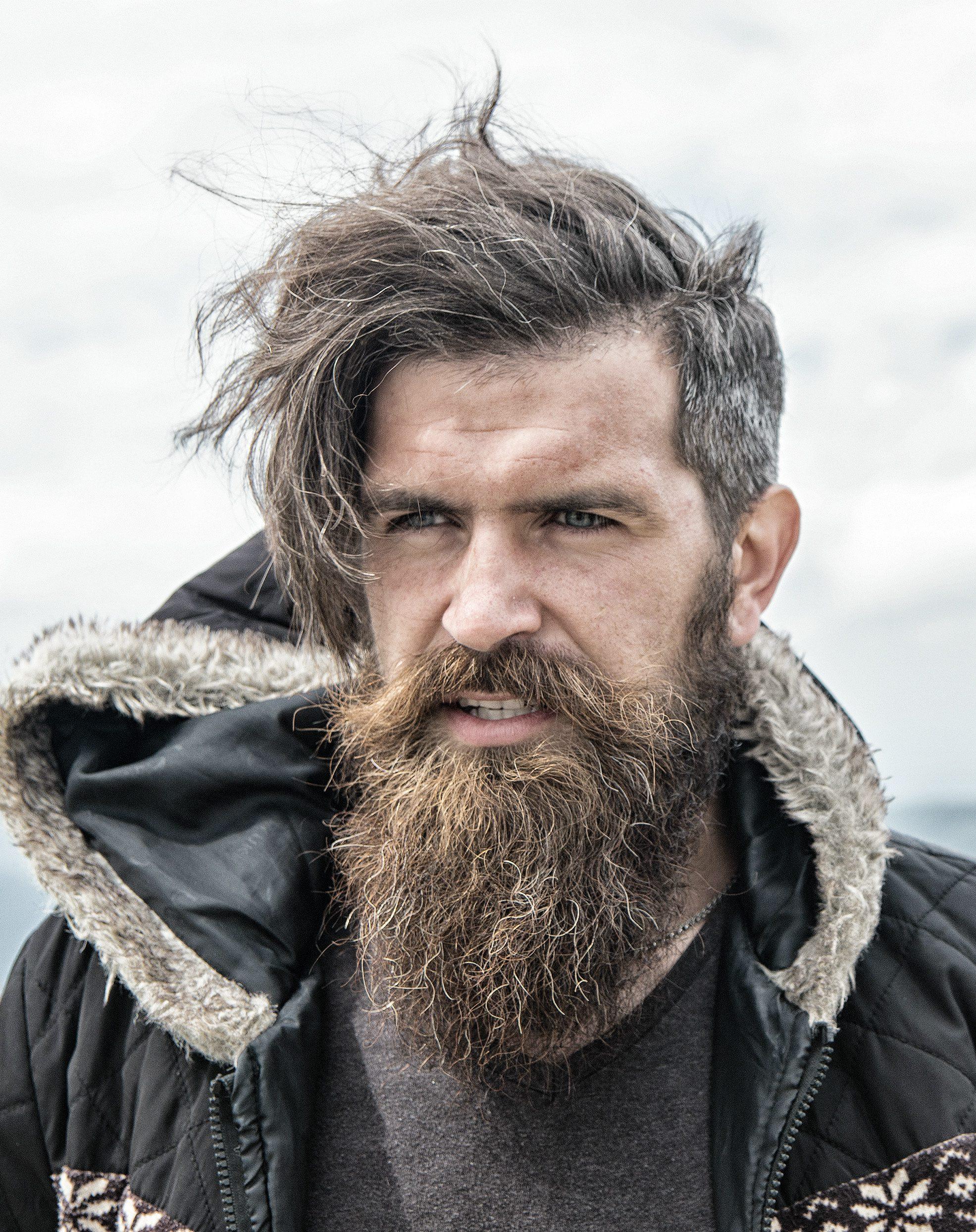 Rusty Long Beard with Rugged Hair